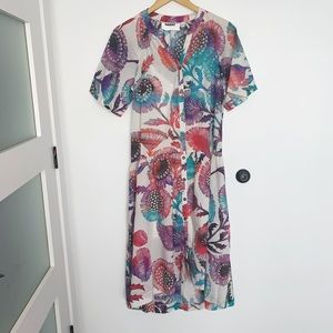NWT Anthropologie floral summer maxi dress
